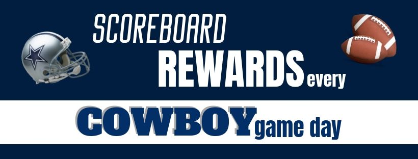 Cowboy Gameday Scoreboard Rewards