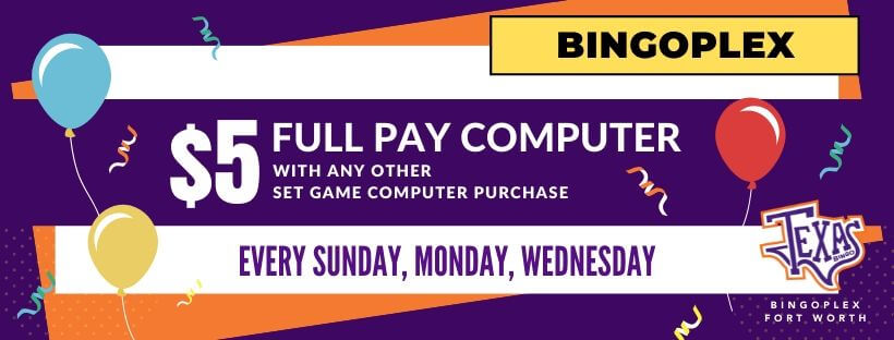 BingoPlex $5 Full Pay Computers