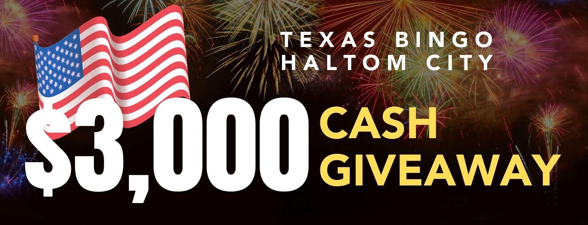 $3,000.00 July 3rd Haltom City Cash GiveAway